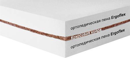 Мини-матрас скрученный  Sleep&Fly mini ЕММ Flex Kokos (Флекс кокос) жаккард, фото 2