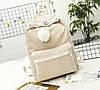 Оригинальный вельветовый рюкзак с помпоном, фото 4