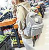 Оригинальный вельветовый рюкзак с помпоном, фото 5