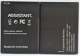 Аккумулятор АКБ для Assistant AS-5433   AS-5433 Max (Li-ion 3.8V 2400 mAh) Оригинал Китай
