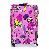 Чехол для среднего чемодана дайвинг medium donuts