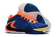 Баскетбольные кроссовки Nike Zoom Freak 1 Blue/Orange Реплика, фото 1