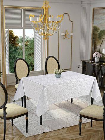 Скатерть Golden Laurel home collection белая, фото 2