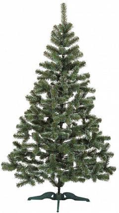 """Новорічна ялинка """"Казка"""" зелена з білими кінчиками 1 м, фото 2"""