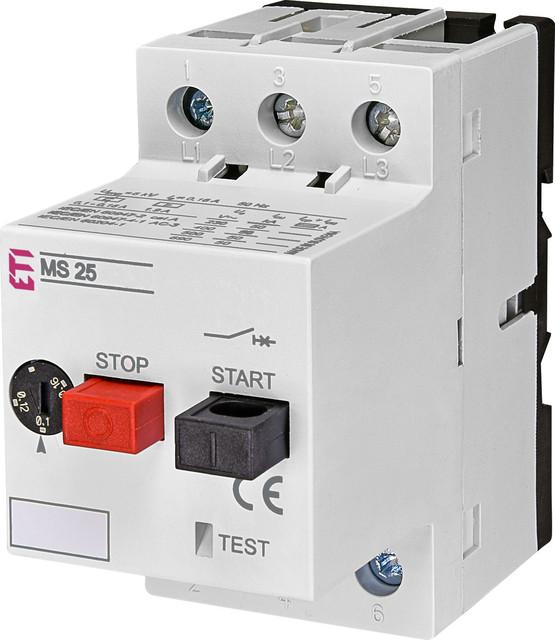 Автоматические выключатели защиты двигателей серии MS ETI