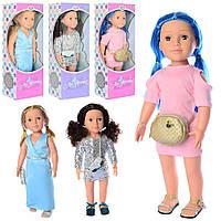 Кукла интерактивная, с сумочкой, умеет говорить Limo Toy 4047-48-49