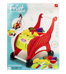 Игровой набор для девочек.Продуктовая тележка и продукты на липучках.Игрушечные продукты.