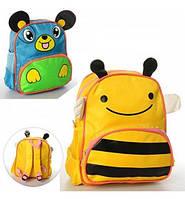 Рюкзак размер средний, 29-26-9см, 1отд, застежка-молния, 3наруж.кармана, ушки, 2вида, в кульке