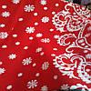 Трикотажное полотно  для пошива новогодних костюмов  ширина 150 см сублимация Дед Мороз