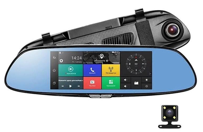 """Автомобильный регистратор-зеркало Discovery XD100 7"""" Android 3G"""