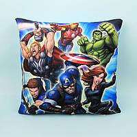 Подушка детская плюшевая герои Marvel размер 38*38 см тм Копиця