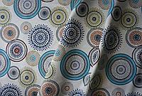 Ткань в полоску с тефлоновым покрытием для штор и декора