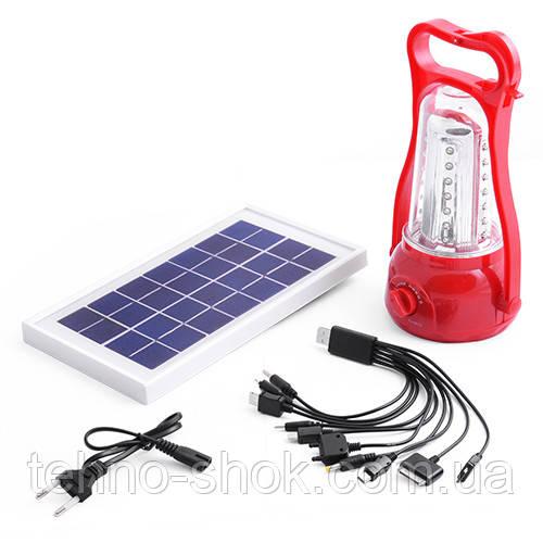Фонарь лампа 5833 35LED, солнечная батарея, ЗУ 220V, встроенный аккумулятор, power bank (Yajia)