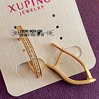 Позолоченные серьги. Бижутерия xp