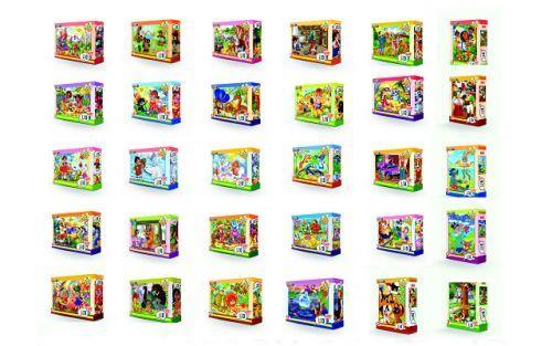 """Пазлы 54 эл.,  """"Лео Люкс"""": Любимые мультфильмы, 32шт в блоке, 12 блоков в упаковке TL 23210"""