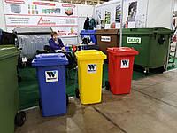 Мусорный контейнер (бак) для ТБО, 120л WEBER, Германия