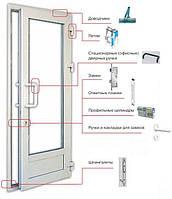 Ремонт входной двери из ПВХ.