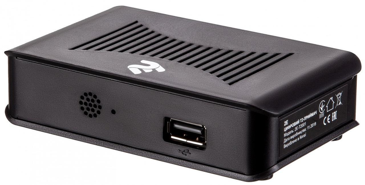 ТВ тюнер 2E DVB-T2 Black