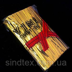 (≈700шт) Проволочные завязки 8см (цена за упаковку), цвет - ЗОЛОТО