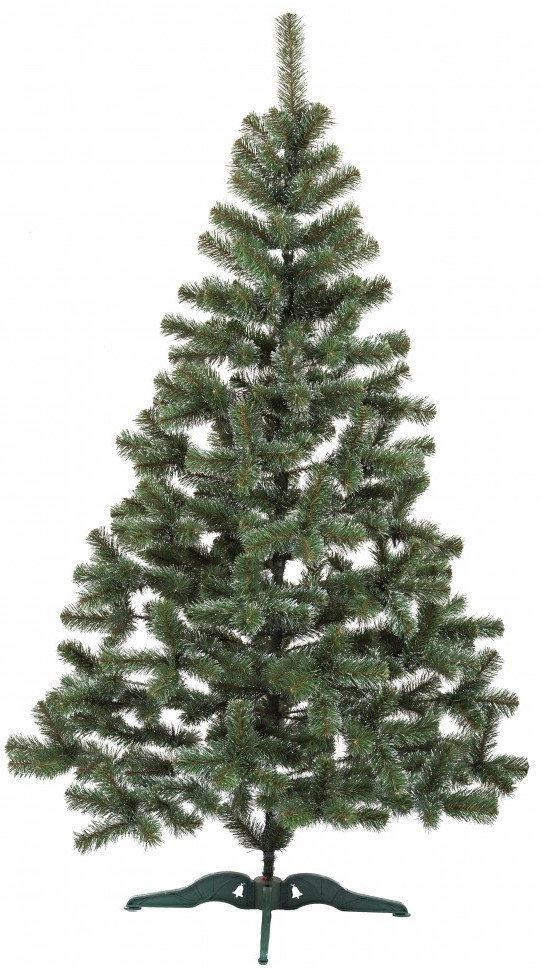 """Новорічна ялинка """"Казка"""" зелена з білими кінчиками 2.2 м"""