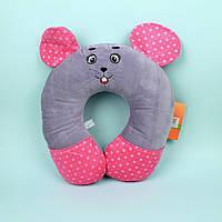 Декоративная подушка в машину Мышка Сонька диаметр 29 см тм Копиця