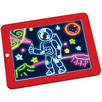 ✸Магическая 3D доска для рисования Lesko Magic Drawing Pad HL-108 Red светящаяся для развития детская игра