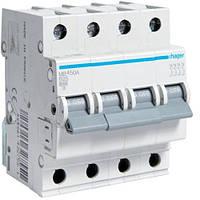 Автоматический выключатель Hager 4P 6kA B-50A 4M (MB450A)