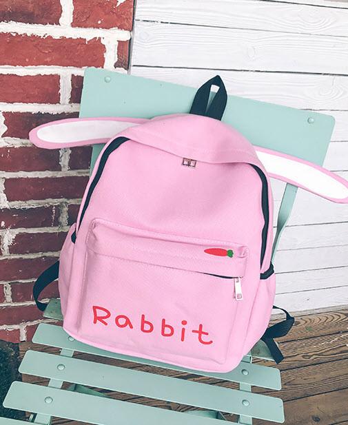 Оригинальный тканевый рюкзак с ушками Кролика Rabbit