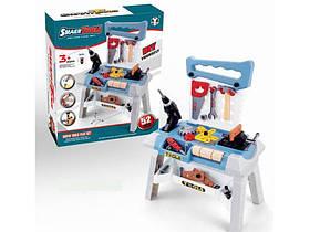 Игровой набор с инструментами и верстаком, с звуковыми эффектами на батарейках