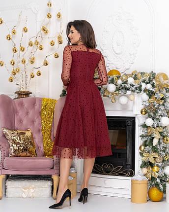 """Нарядное комбинированное миди-платье """"Kaila"""" с расклешенной юбкой (2 цвета), фото 2"""