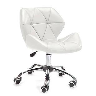 Кресло Стар Нью, мягкое, хром, цвет белый (Бесплатная доставка)