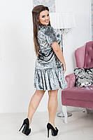 """Стильное платье больших размеров """"Бархат"""" Dress Code, фото 1"""