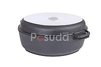 Гусятница Биол антипригарная с крышкой-сковородой, 2,5 л Г301П