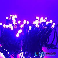 Светодиодная гирлянда нить DELUX String 20 Flash 10м 100 LED Фиолетовый на черном проводе, фото 1