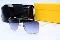 Солнцезащитные очки Ca 0109 золото с серым, фото 1