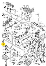 Разьем 6-х контактный WAG на Audi,Seat,Skoda,VW, фото 3