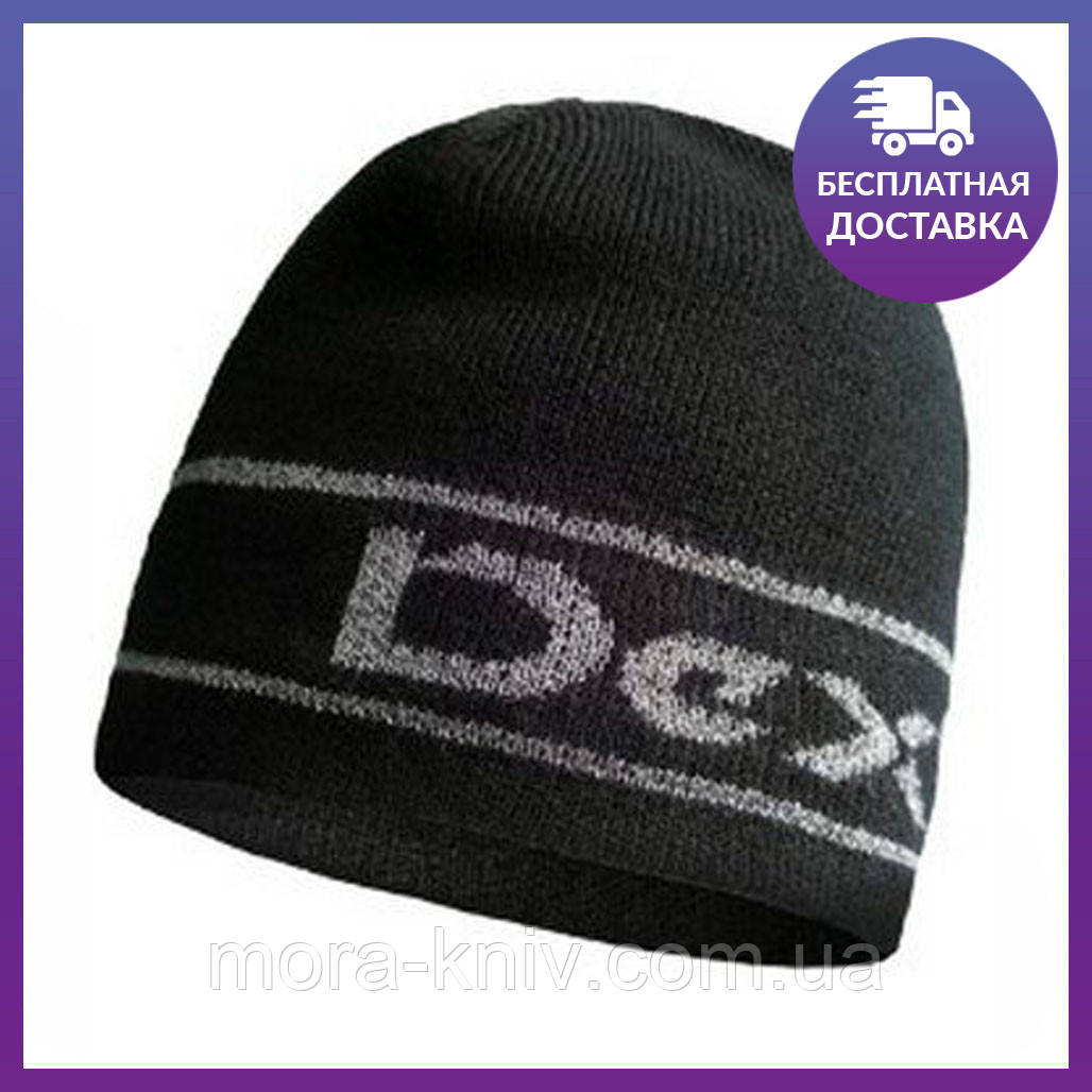 Шапка водонепроницаемая Dexshell Beanie Reflective Logo, DH373BLKLXL