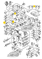 Разьем 6-х контактный WAG на Audi,Seat,Skoda,VW, фото 2