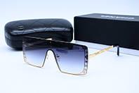 Солнцезащитные очки квадратные Ch 20293 золото с серым, фото 1