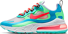 Женские кроссовки Nike Air Max 270 React Psychedelic Movement AT6174-300, Найк Аир Макс 270