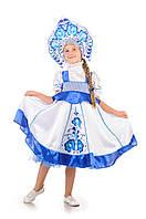 Детский карнавальный костюм Русский народный костюм «Гжель» девочка на рост 115-125 см, фото 1