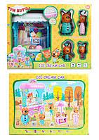 Игровой набор M-8808 (24шт/2) Ice Cream Car, звук, герои, в кор. 28,5*11,5*33см