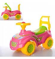 Детский автомобиль толокар для прогулок Принцесса Технок для девочки