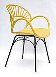 Стілець Flori, жовтий, фото 3