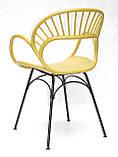 Стілець Flori, жовтий, фото 4