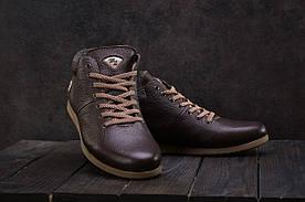 Ботинки мужские Milord Olimp коричневые (натуральная кожа, зима)