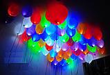 Набор 5 штук светящиеся надувные шары со светодиодом 1454, фото 3