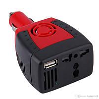 Автомобильный преобразователь напряжения (инвертор) 12V в 220V+ USB(2.1A), фото 1