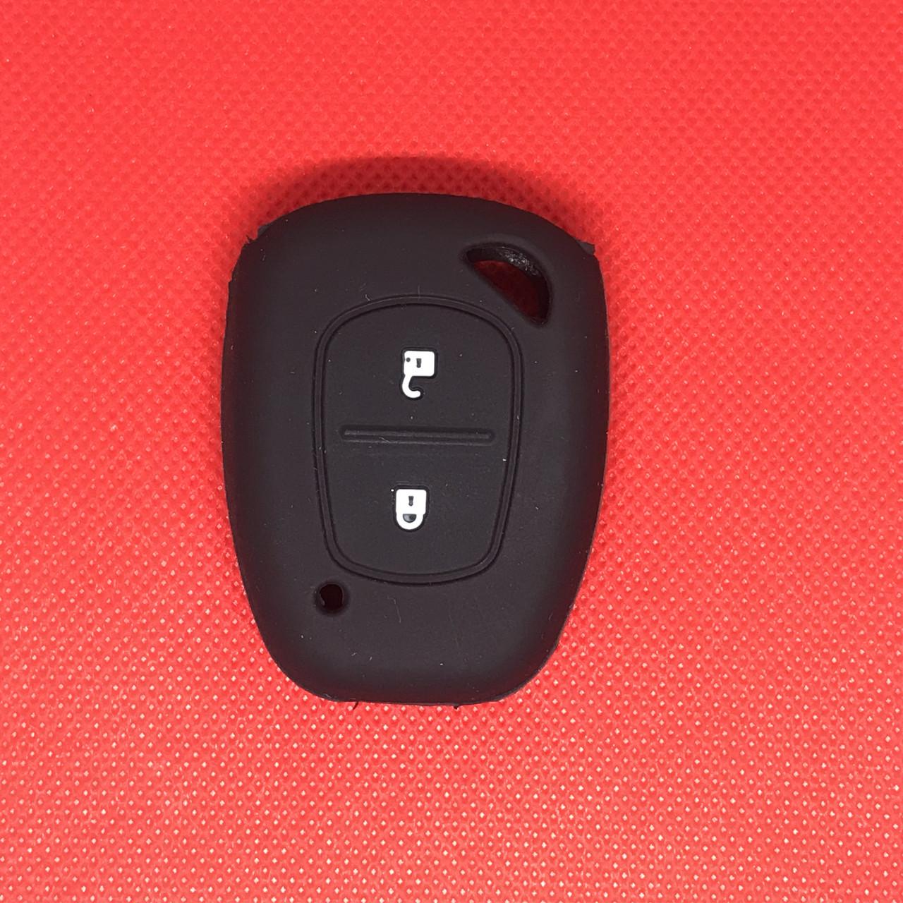 Чехол на ключ Рено Трафик Renault Trafic 2 кн черный