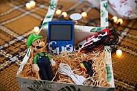 Портативная игровая консоль с ДЖОЙСТИКОМ Ретро Sup Game box 400 in 1 Топ-игра Синий